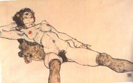 Egon Schiele, Female Nude, 1914