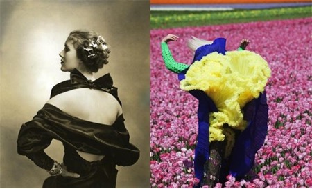 Edward Steichen, Mary Heberden, Vogue, 1935 and Viviane Sassen, In Bloom, Dazed & Confused, 2011