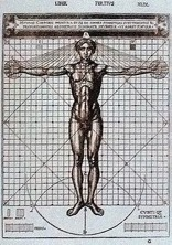 Cesariano C., The Vitruvian man, 1521.