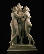 Canova A., The three Graces, 1813-1816, Ermitage, Saint Petersburg.