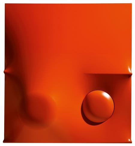 Agostino Bonalumi, Orange, 1968