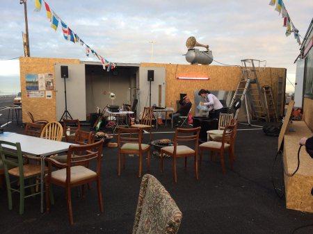Robert Pratt & Mark Seiltz, Right Idea Wrong Machine,installation view, Folkestone Fringe Festival, 2014