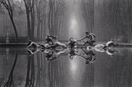 Michael Kenna, Chariot of Apollo, Study 1, Versailles, 1988