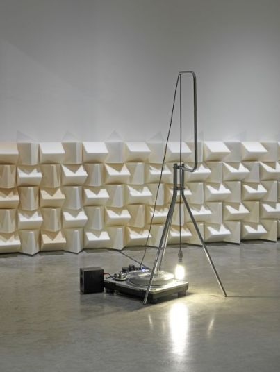 Haroon_Mirza, Cross section of a revolution, 2011
