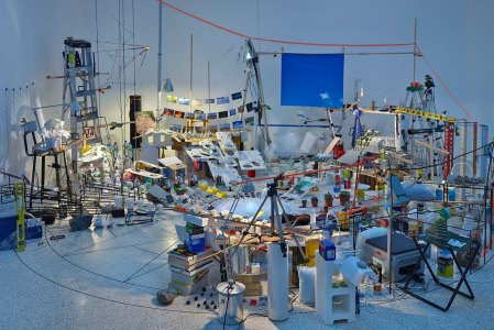Sarah Sze, installation view at the Venice Biennale 2013