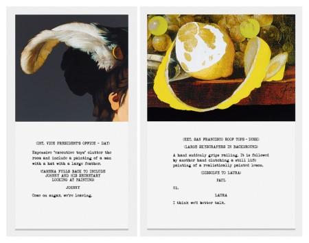 John Baldessari, Come on Sugar and A Hand Suddenly Grips Railing, 2014