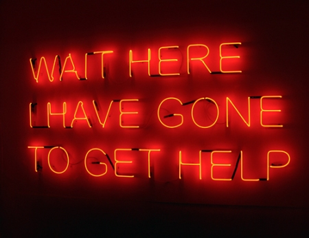 Tim Etchells, Wait Here, 2008