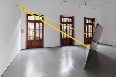 Jose Dávila, Zimbabue (amarillo), 2014, Galeria OMR, Mexico City