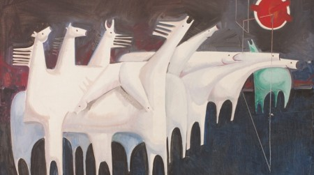 Kadhim Hayder, Fatigued Ten Horses Converse with Nothing, 1965