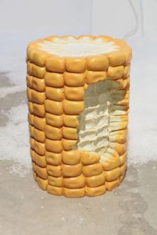 4. Corn Stool 2015, Fiberglass, 28 x 39 cm, 11 1/8 x 15 3/8 ins