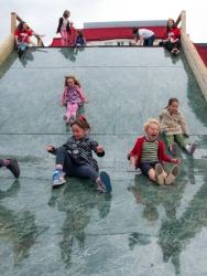Assemble, Photograph of children playing on Big Slide (2013), Courtesy of Assemble Photo credit: http://assemblestudio.co.uk/?page_id=411