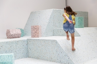 Assemble and Simon Terrill, The Brutalist Playground by Assemble and Simon Terrill (2013), Photograph by Tristan Fewings/Getty Images for RIBA, courtesy of RIBA Photo credit: https://www.architecture.com/Explore/ExhibitionsandEvents/BrutalistPlayground/BrutalistPlayground.aspx