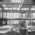 Nigel Henderson, Photograph showing Hunstanton Secondary Modern School, Norfolk, during construction (c.1949-c.1956) © Nigel Henderson Estate and Photographic Rights © Tate (2015). Available under a CC-BY-NC-ND 3.0 (Unported) licence Photo credit: http://www.tate.org.uk/art/archive/tga-201011-3-1-27-10/henderson-photograph-showing-hunstanton-secondary-modern-school-norfork-during