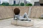 Liegender Frauenakt (Untilled 2011-2012), Pierre Huyghe, Installation view, The Human Factor, Hayward Gallery 2014, Photo Linda Nylind