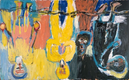 Der Brückechor [The Brücke Chorus] 1983 Oil on canvas, Courtesy of Saatchi Gallery.
