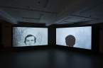 """Hiraki Sawa, 'Lineament,' 2012, two-channel video, colour, silent customised record player, vinyl record, stereo sound. Sound by Dale Berning and Ute Kanngiesser 18' 47"""". Installation image of fig-2 exhibition. Courtesy of the artist. Photography by Sylvain Deleu"""