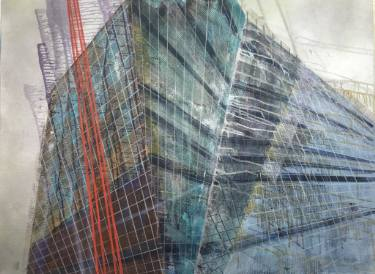 Luke M Walke, Metastructure V (Ch, Changes) Painting, 29.9 H x 39.8 W x 2.4 in