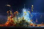 Hicham Berrada, Présage, tranche, 2015, Paysages chimiques en évolution ralentie dans cuve en verre, 37 x 28 x 5 cm. Image courtesy of Hichal Berrada and Kamel Mennour.