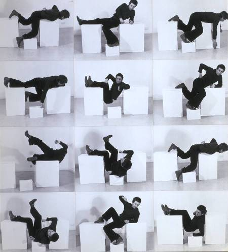 Pose Work for Plinths 3 1971 by Bruce McLean born 1944