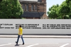 1997-2014 TEXT PIECES The Wall South Kensington, Queens Gate and Harrington Road, London UK (Solo) (2014), Installation View, Image Courtesy of Stefan Brüggemann