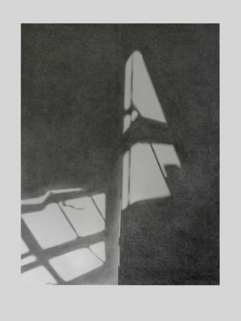 Janine Hall, Window Shadow, pencil on paper